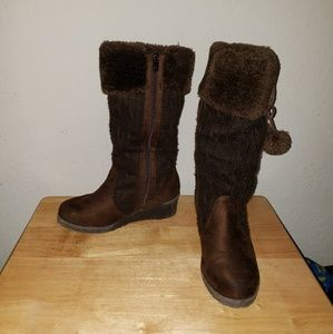 """MICHAEL KORS """"KENDALL"""" BROWN WINTER BOOTS SIZE 3"""